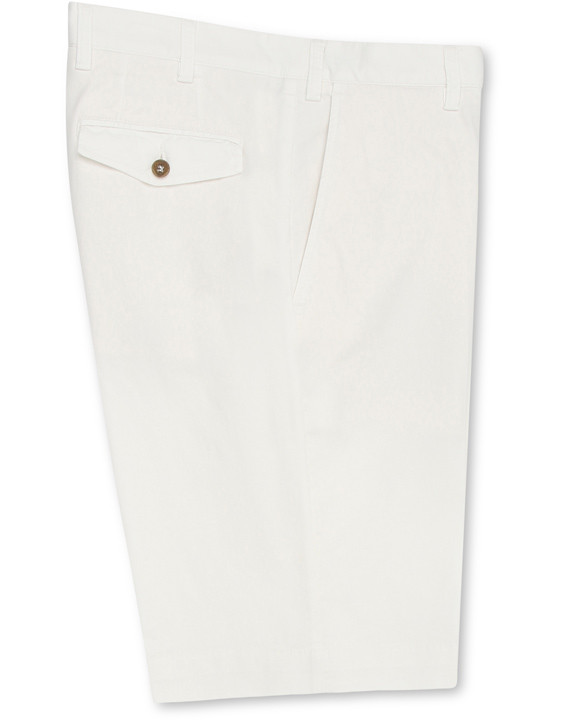WHITE COTTON BERMUDA SHORTS