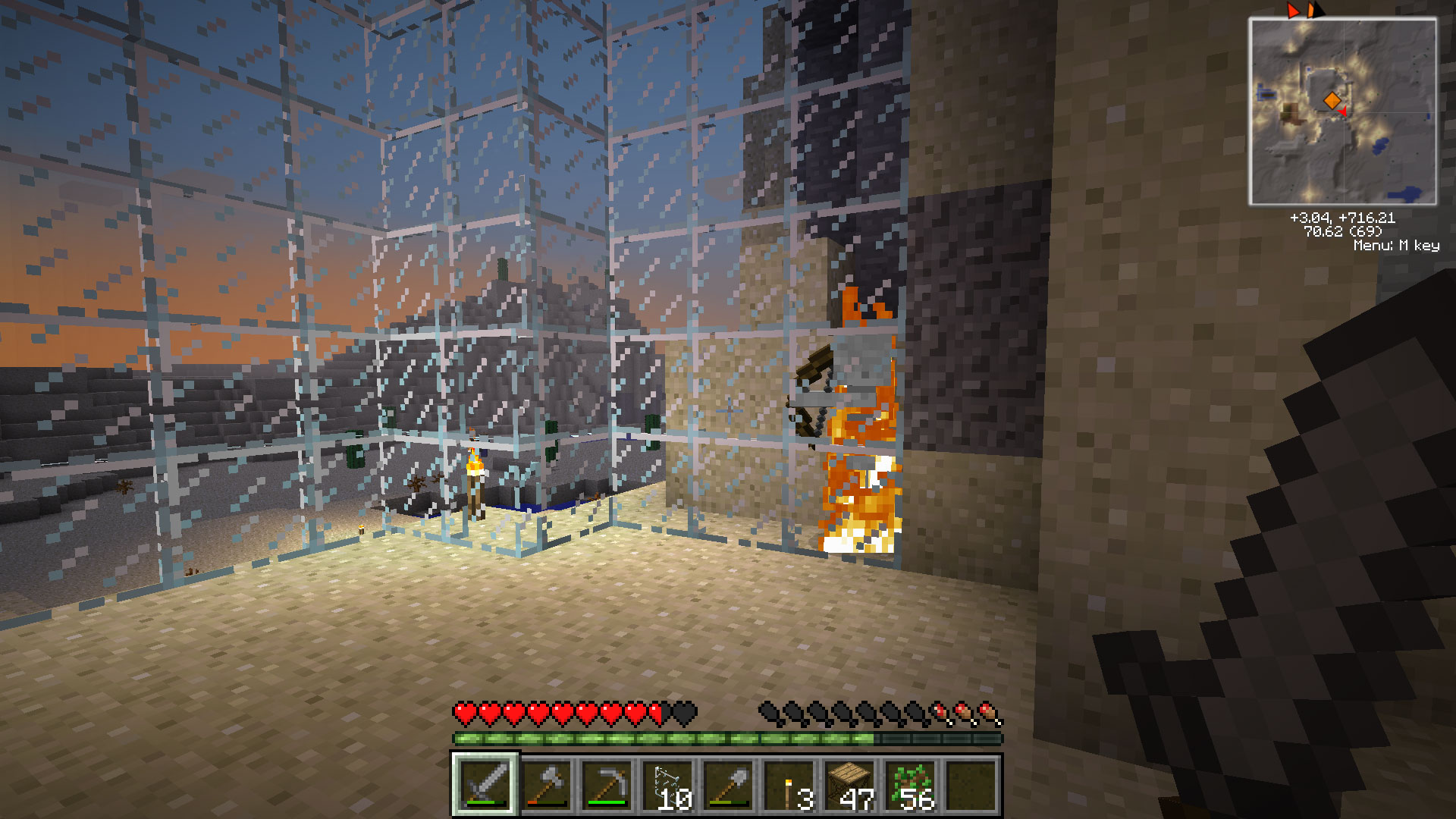 Look. The glass wall is working already! VICTORY!
