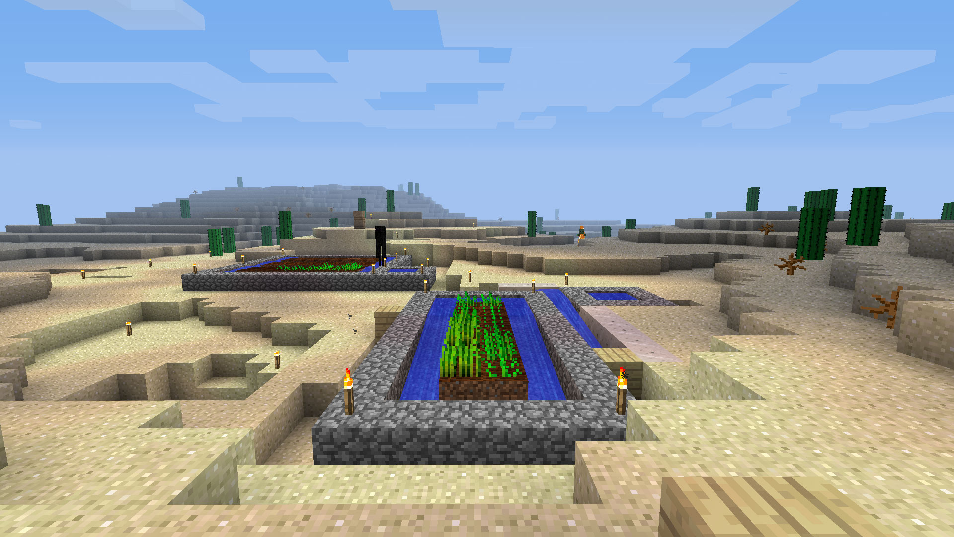 Some enterprising folks set up this ingenious farm on the other side of the base. Now no one will have to starve!