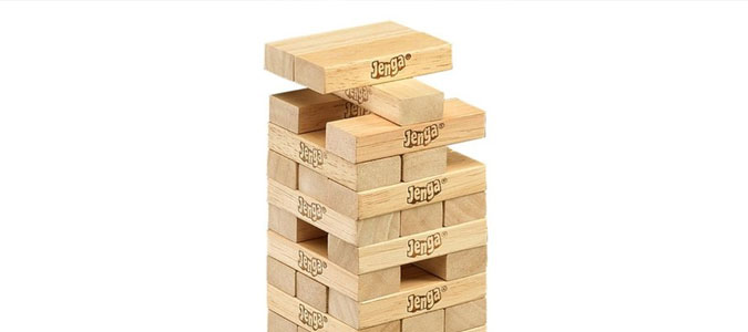 """A great metaphor [for Skyward] is the game of Jenga."""