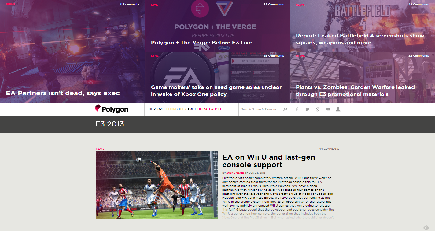 E3 2013 News  Videos   Reviews   Polygon