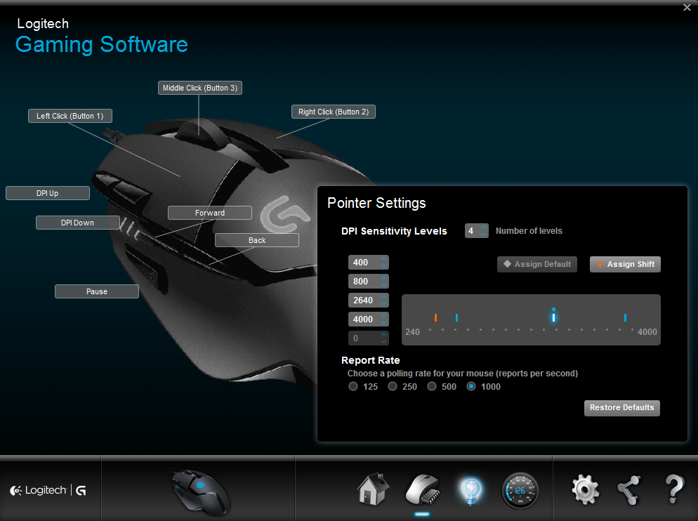 logi gaming software