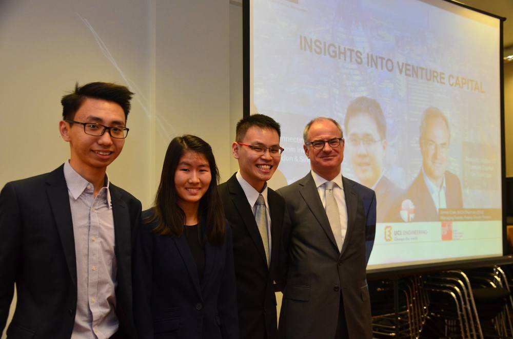 Left to right: Nigel, Shirlyn & Hoong Chun with Mr Simon Clark