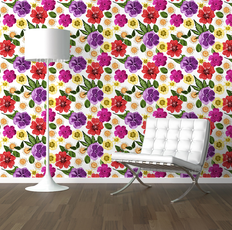 Floral Room col repeat roomset sml