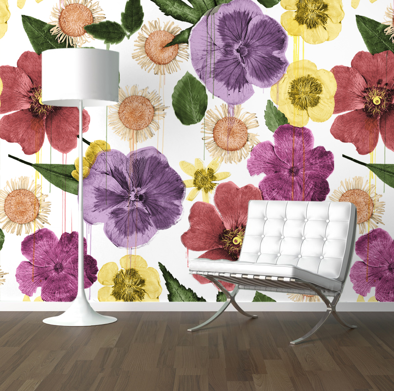 Hand Painted- Reincarnated Dried Flowers room