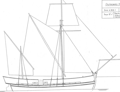 Schematics for the Pinnace Virginia of Sagadahoc
