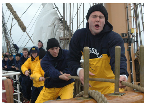 Cadets training on the USCGC Eagle