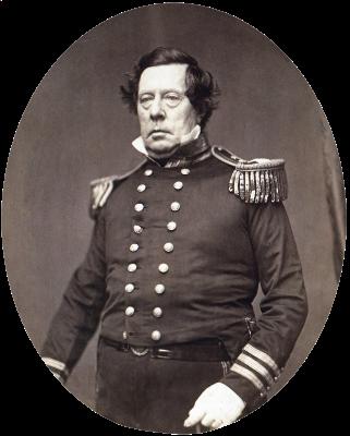 """Commodore Matthew CalbraithPerry, USN"" Matthew Brady, 1856."