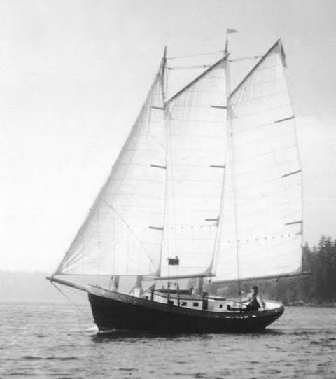 Annie  under sail