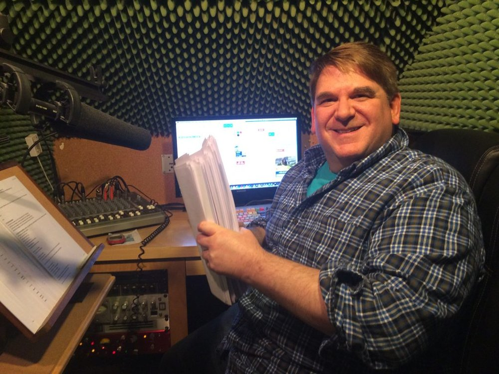 Steve Kamer in home studio
