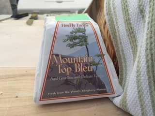 MountainTop Bleu cheese takes its shape from pyramid molds and is currently the most highly awarded cheese in FireFly's product. Photo CREDIT:Joe Khawly