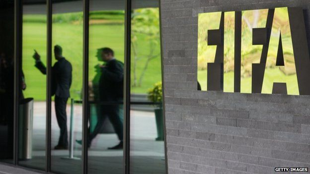 Swiss investigators raiding Fifa's HQ in Zurich. PHOTO CREDIT: Getty Images