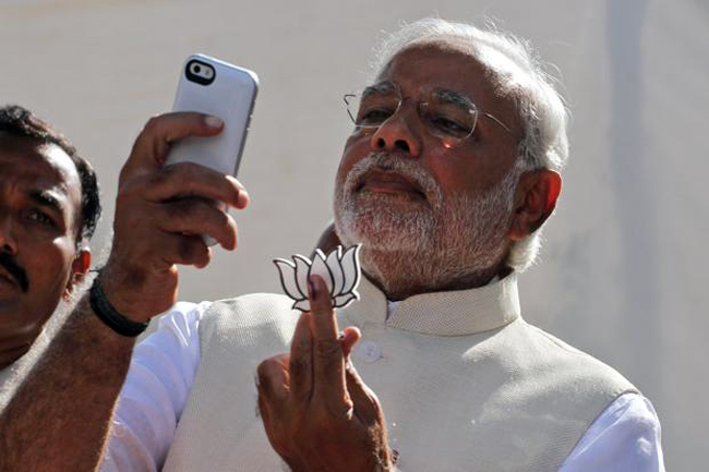 PM Modi, a huge advocate of usage of Technology in government. photo credit: thetimeahead.com