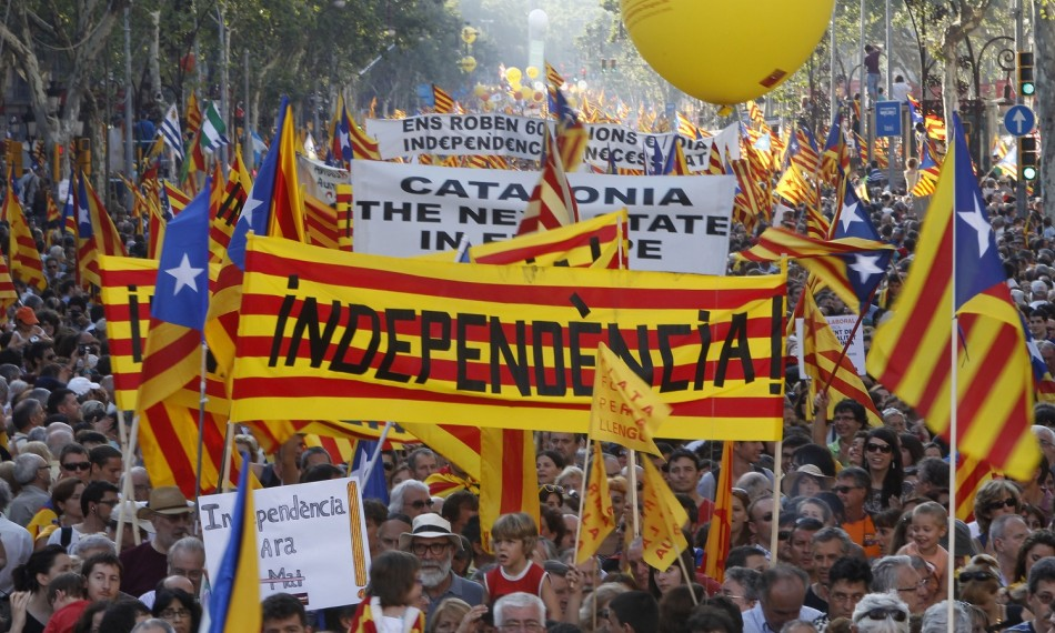 catalans protesting for independence. photo credit: ibtimes.co.uk