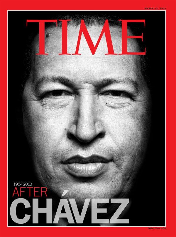 HUGO CHávez on the cover of time magazine