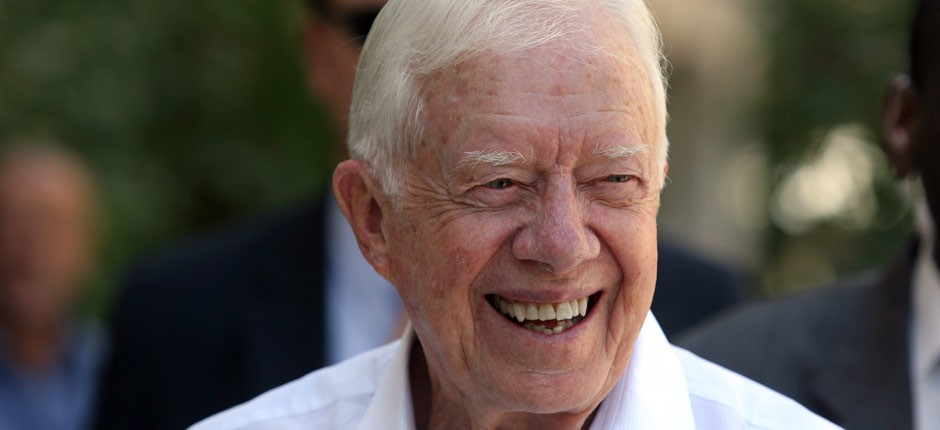 Former President Carter smiling. PHOTO CREDIT: virgin.com