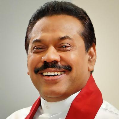 Former President Mahinda Rajapaksa. photo credit: twitter.com