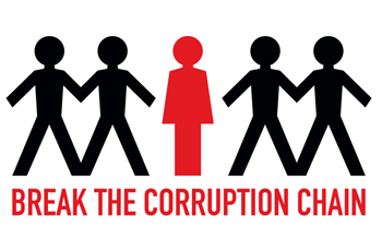 Break The Corruption Chain logo. Photo credit: Un.org