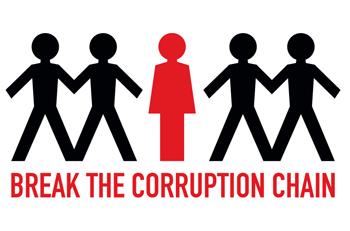 Break The Corruption Chain logo. Photo credit: Un.org