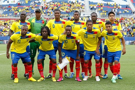 World Cup 2014 Ecuador National Team. Photo credit: Worldcupbrazil.net