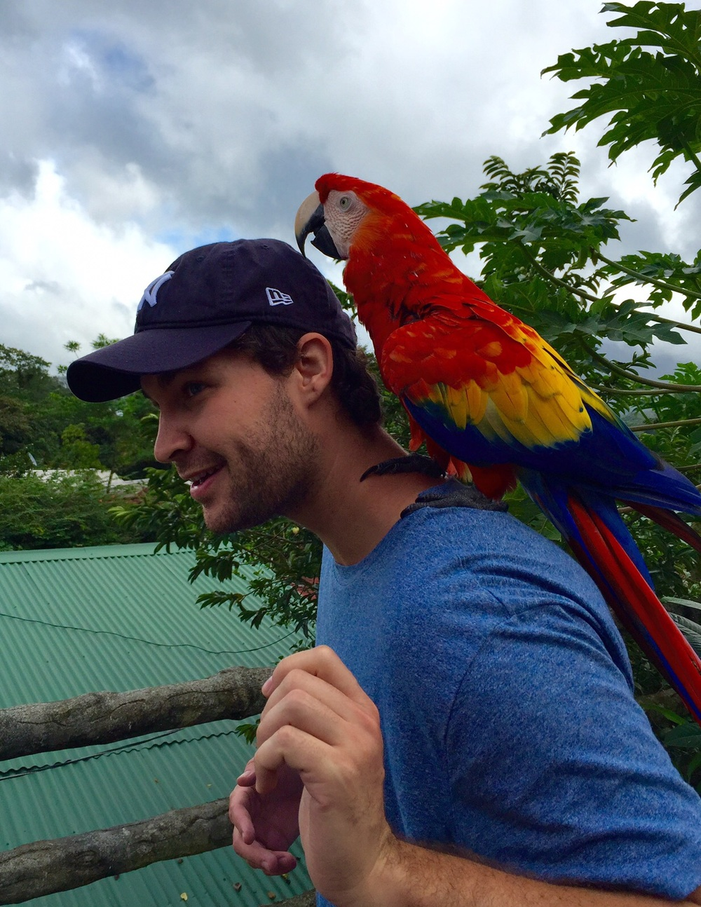 GYV contributor Julien Philippe during his trip to Costa Rica. Credit: Michel Philippe