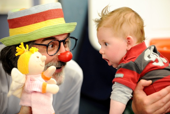 A clown doctor on the job. Credit:  Clowndoctors.org.nz