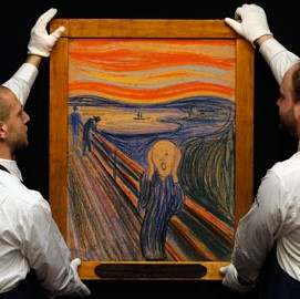 The original The Scream painting, one of the most recognized artworks depicting fear, by Norwegian Expressionist painter Edvard Munch. Credit: The Guardian