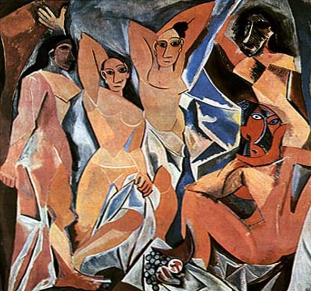 "Picasso's ""Les demoiselles d'Avignon"" in 1907.Credit: Francesco Morante website"