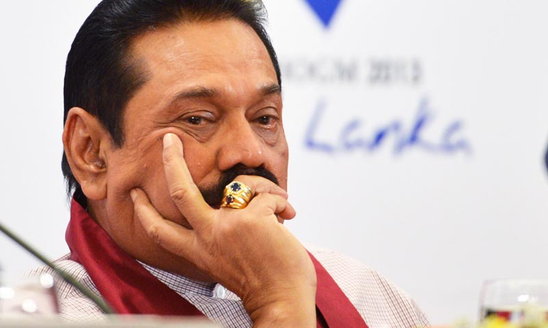 Former Sri Lankan president, Mahinda Rajapaksa.Credit:Newsfirst