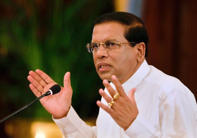 Current Sri Lankan president,Maithripala Sirisena. Credit:Colombo Telegraph