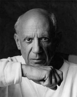 Pablo Picasso. Credit: Arnold Newman/Liaison Agency