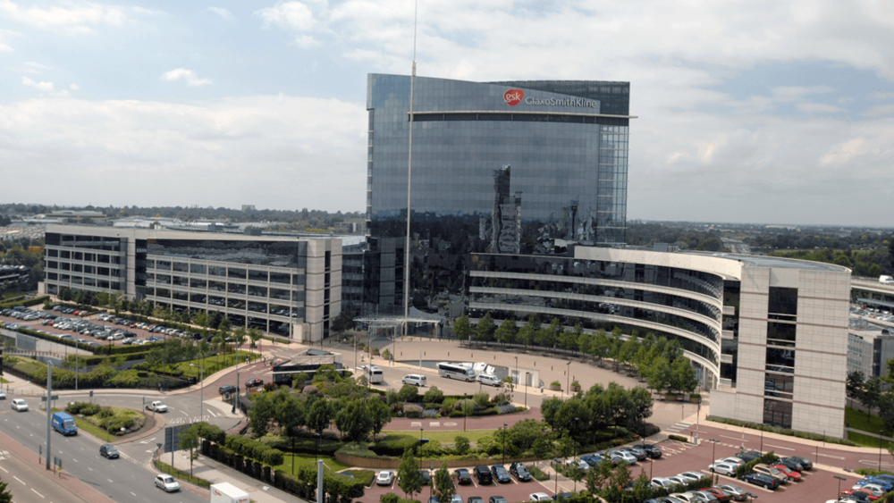 The London headquarters of GlaxoSmithKline, the largest pharmaceutical company in the U.K. Credit: GSK website
