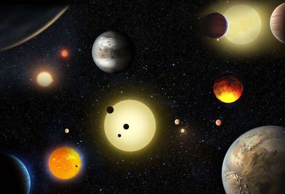 A concept picture depicts the planetary discoveries made to date by NASA's Kepler space telescope. Credit: NASA/W. Stenzel