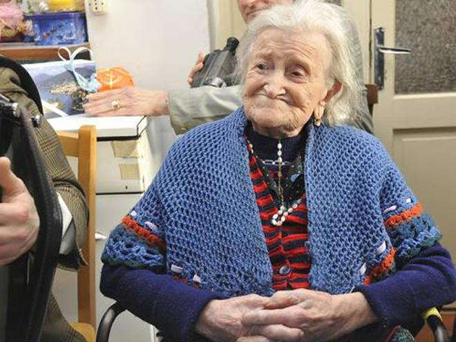 Italy's Emma Morano, the world's oldest living person. Credit: Sanatate.bzi.ro (full link)