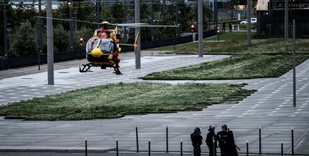 Police and emergency forces participate in the simulation of a terrorist attack in the Stade de France in Paris May 31. Credit: Jeff Pachoud/AFP