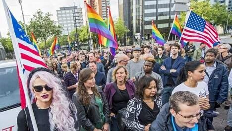 Rotterdam silent march.Source: NYTimes