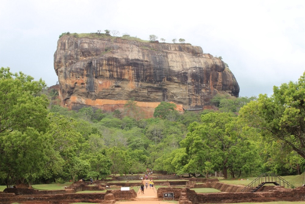 The Sigiriya Rock on which the ruins of the palace of King Kashyapa stand. Credit: Kushan Costa/GYV