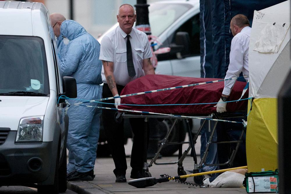 Scene of the knife attack in London. Credit: Justin Tallis/AFP/Getty Image Source:  The Boston Globe