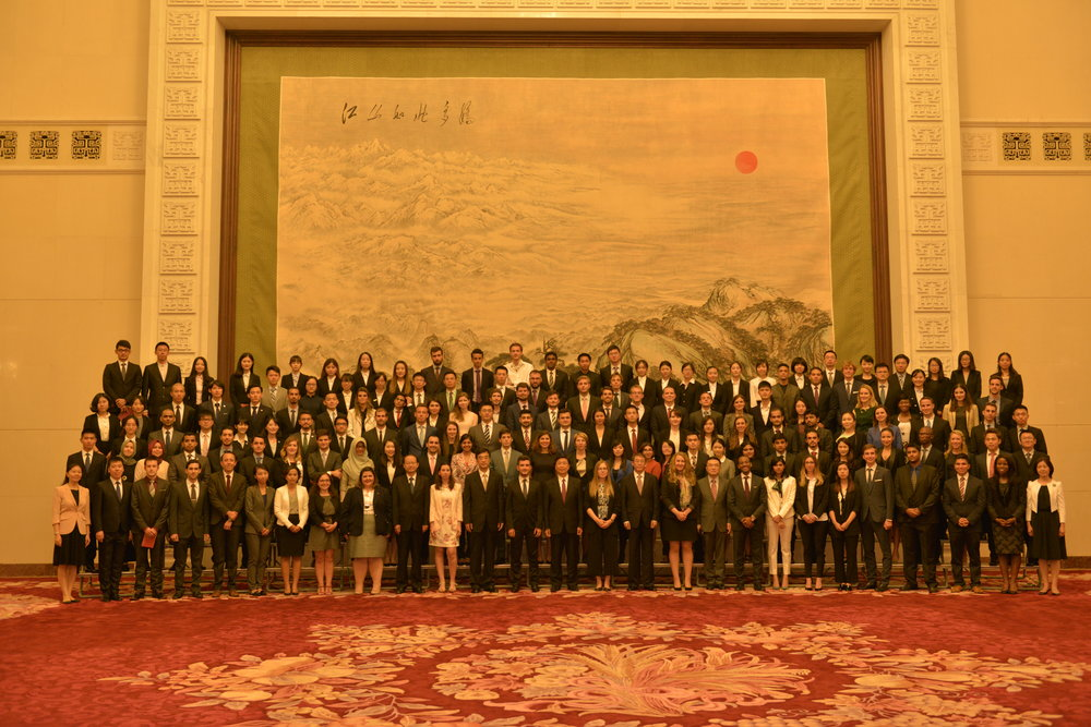 Y20 delegates with Chinese Vice President Li Yuanchao. Credit: Y20 China Organizing Committee