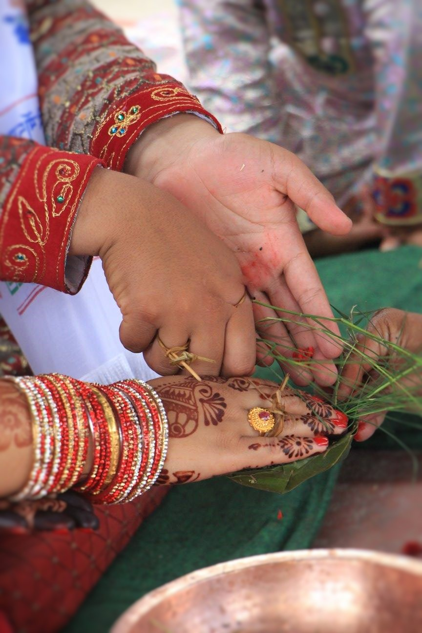 A photo from a typical Nepali wedding.