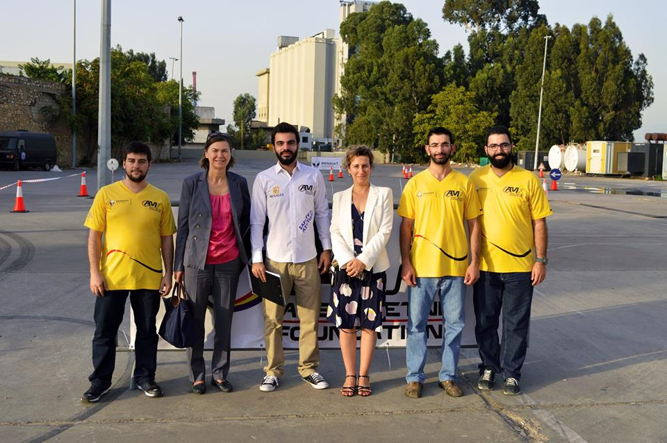 The AMF team with the representatives of the Renault Foundation. Credit: Georges Metni