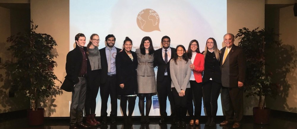 Global Young voices members captured after the event with dr. danielle walker and dr. eli amdur. credit: /gyv