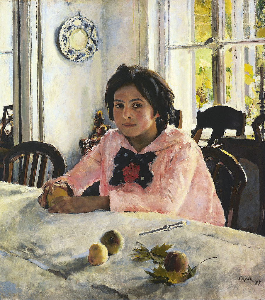 "One of the well-known artworks at Tretyakov Gallery is ""Girl with Peaches"" from 1887 by Valentin Serov. Source: Wikimedia"
