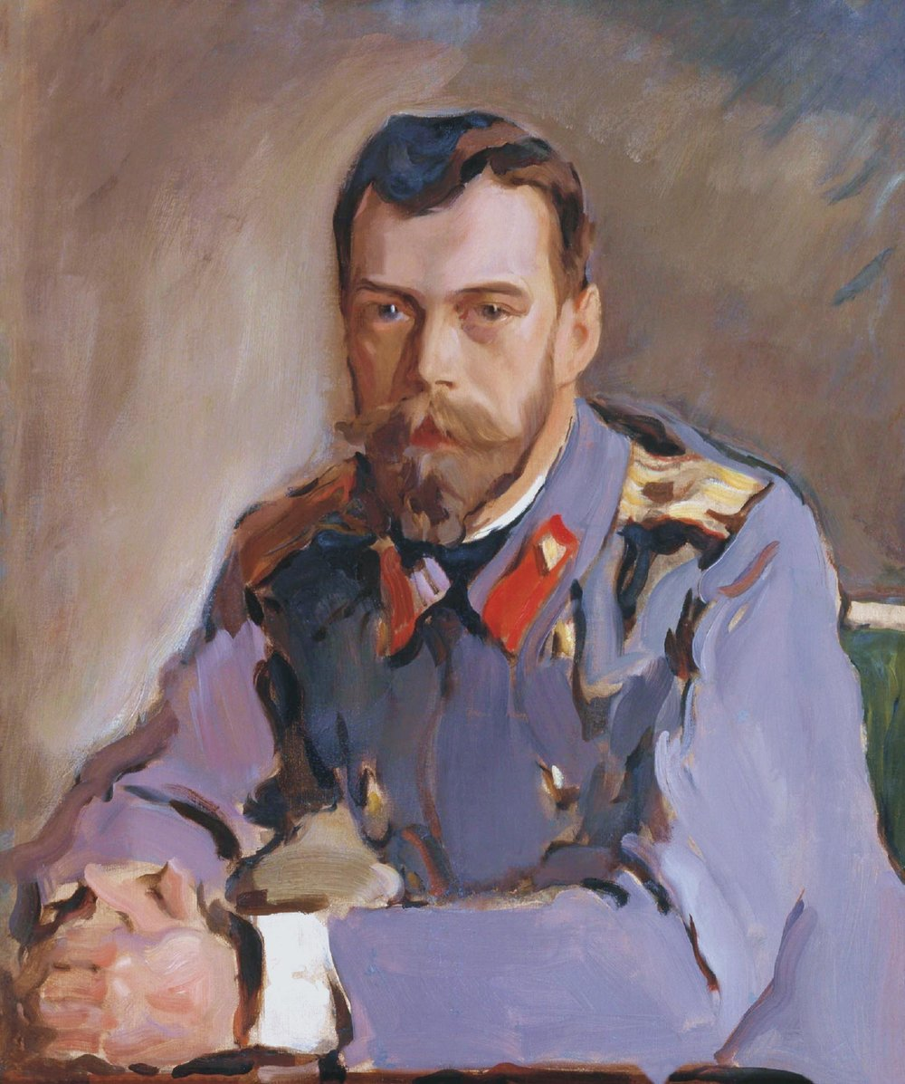 Exhibit attendees can see the Serov painting of Tsar Nikolai II, the last emperor of Russia. Credit: Valentin Aleksandrovich Serov website Source: SeeBorisGo/Storia