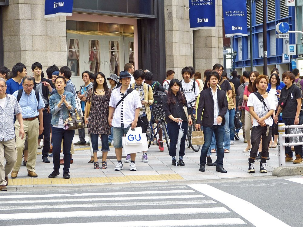 Japanese youth crossing the street in Tokyo, Japan Source:  Pixabay