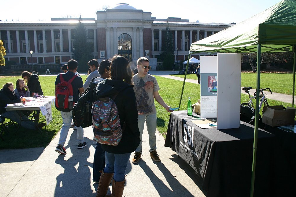 The Student Sustainability Coalition at a youth-led event in Oregon State University's Memorial Union Quad on Oct. 30, 2013 Cover credit: Theresa Hogue/ Oregon State University  Source:  Flickr
