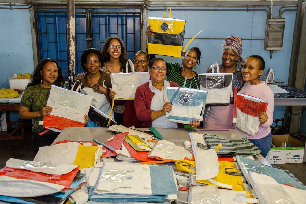 Repurpose Schoolbags team in the factory. Source: Facebook