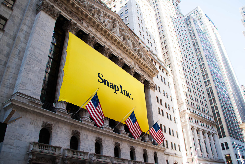 Shares of Snap Inc. surged 44 percent in their first day of trading on the New York Stock Exchange, valuing the multinational technology company at $34 billion. Credit:  Anthony Quintano / Flickr