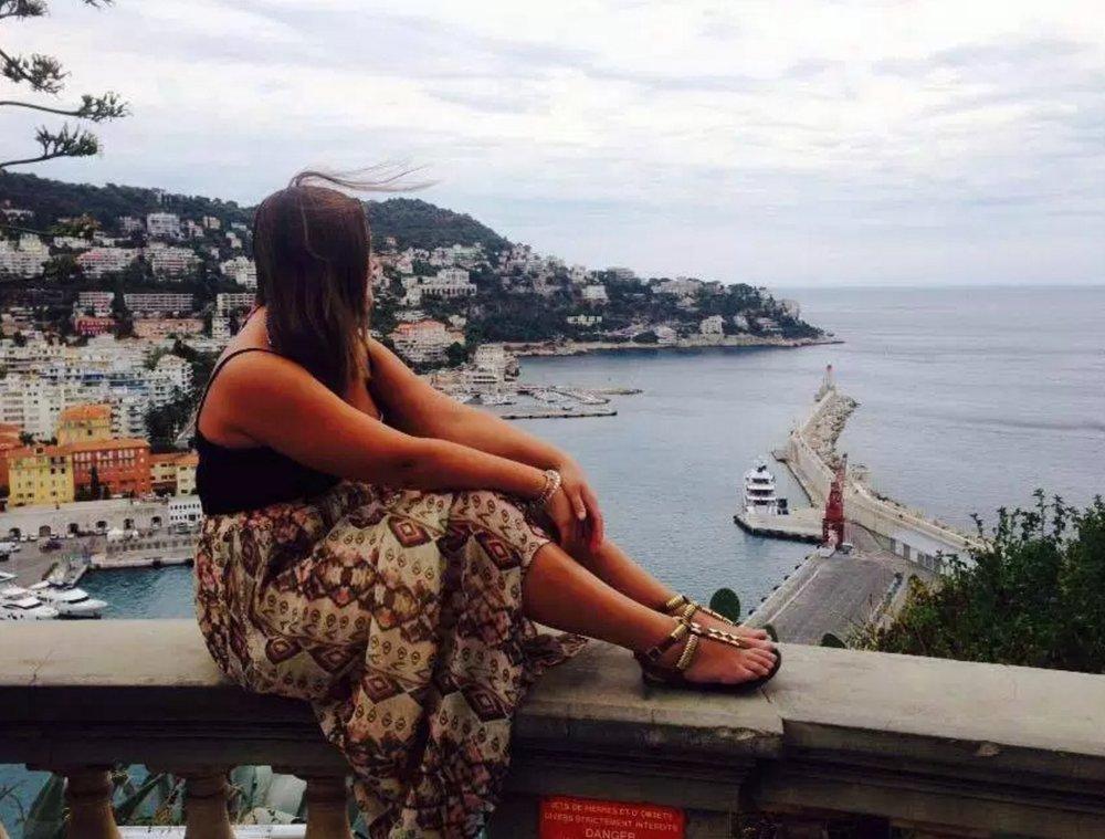 Overlooking the Mediterranean Sea in Nice, France in August 2015.