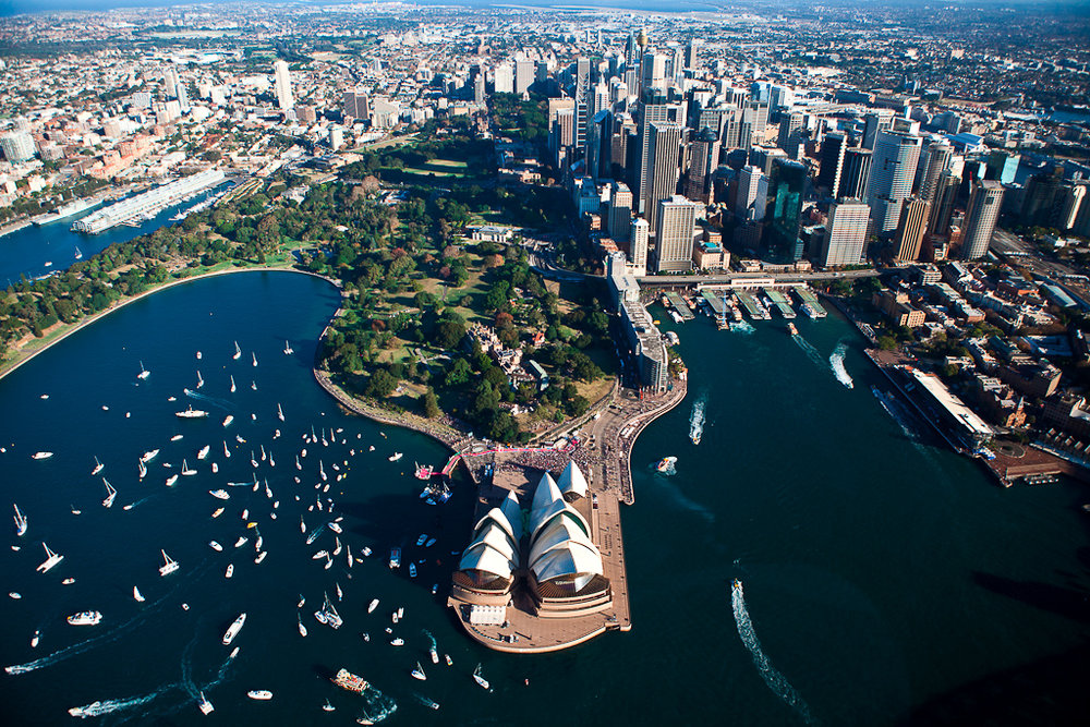Aerial view of Sydney's famous landmark, the Sydney Opera House. Cover source: Wikimedia